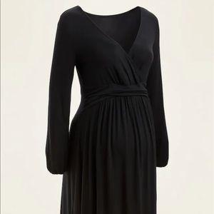 🌿Maternity Cross Front Jersey Long Sleeve Dress